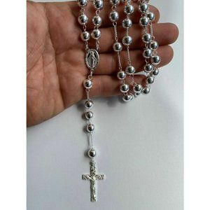HarlemBling 925 Sterling Silver Rosario Necklace